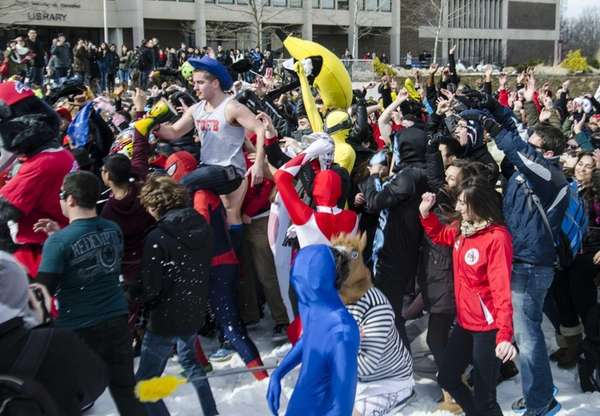 Hundreds of Stony Brook University students danced in