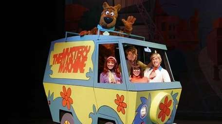 Scooby and crew in the mystery machine