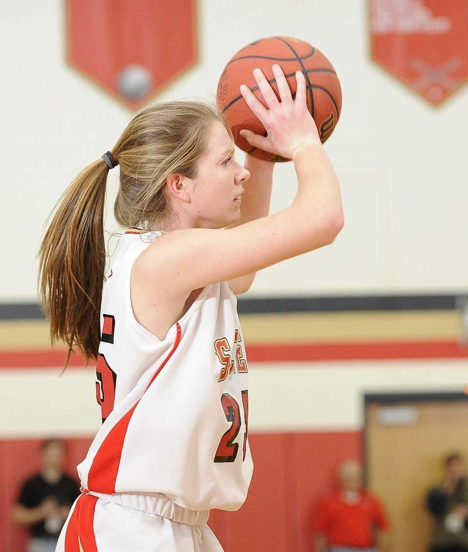 Sachem East's Katie Doherty shoots the ball against