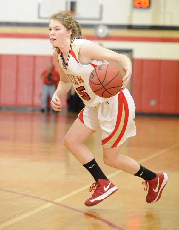 Sachem East's Katie Doherty controls the ball against