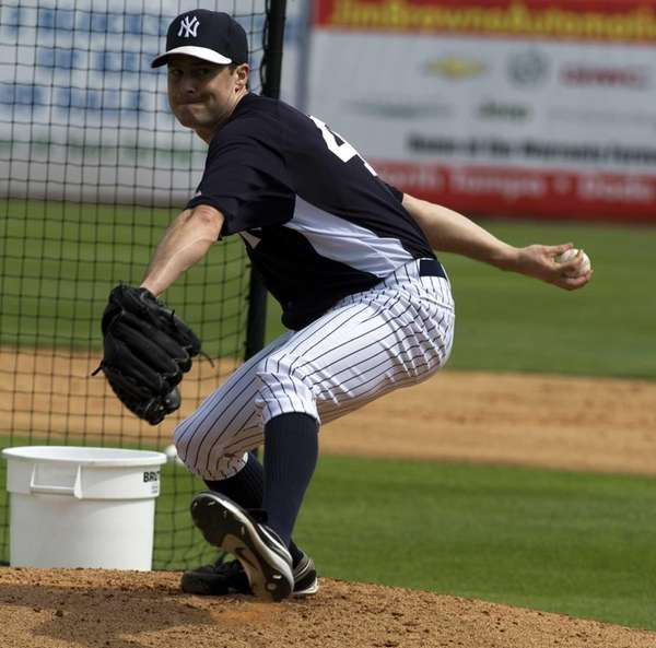 Yankees' Matt Daley pitches from the mound in
