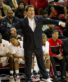 St. John's head coach Steve Lavin looks on