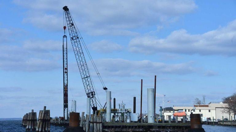 The long-crumbling Mallory Pier at the U.S. Merchant