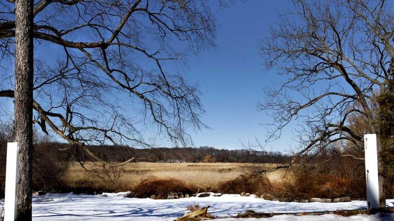 The sunken meadow is seen from Sunken Meadow