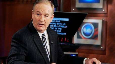 Fox News commentator Bill O'Reilly appears on his