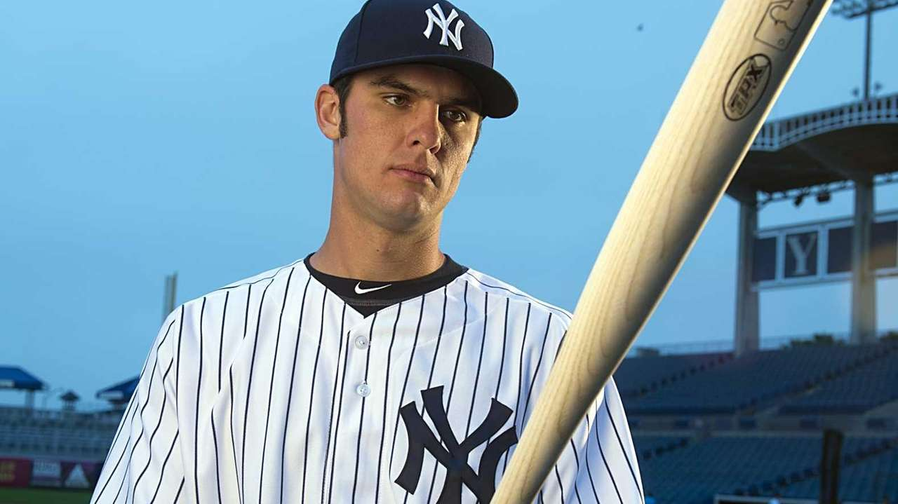 Yankees' INF Greg Bird on picture on pitcher