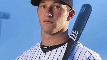 Yankees outfielder Slade Heathcott poses on picture day