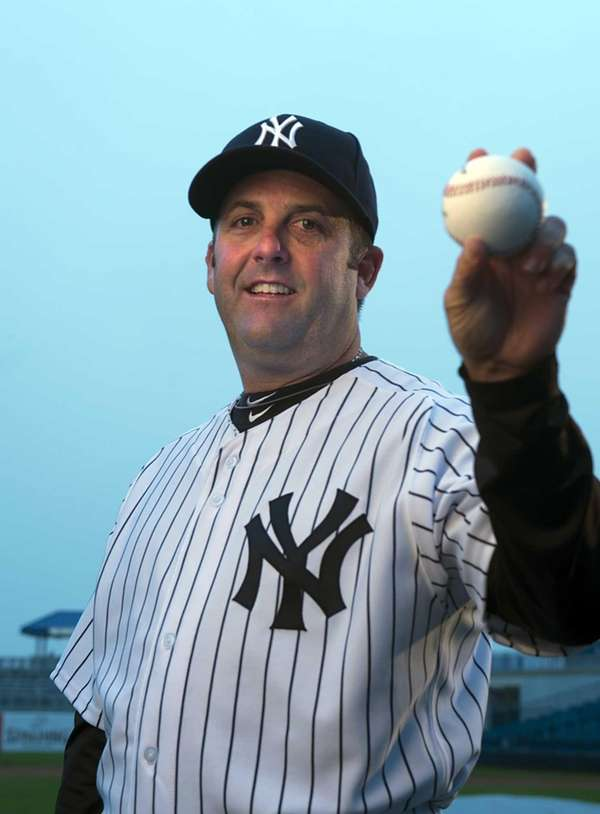 Yankees batting coach Kevin Long poses on picture