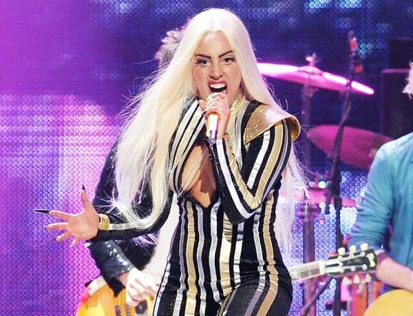 Lady Gaga performs at the Prudential Center in