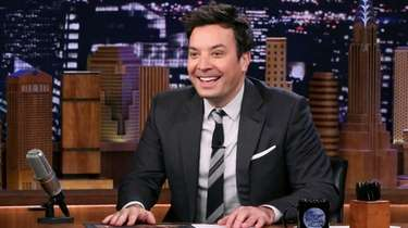 "Jimmy Fallon, pictured hosting ""The Tonight Show"" on"