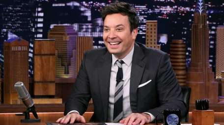 """Jimmy Fallon, pictured hosting """"The Tonight Show"""" on"""