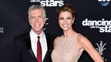 Hosts Tom Bergeron and Erin Adrews, pictured at