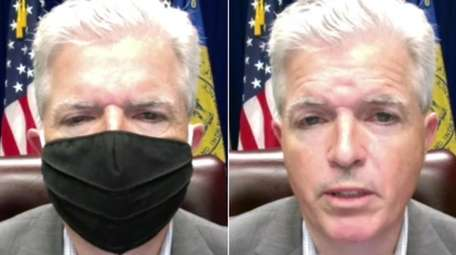 Suffolk County Executive Steve Bellone joined health and