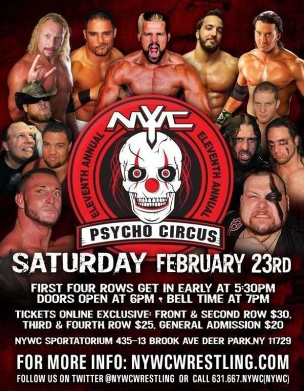 NYWC wrestling in Deer Park Saturday