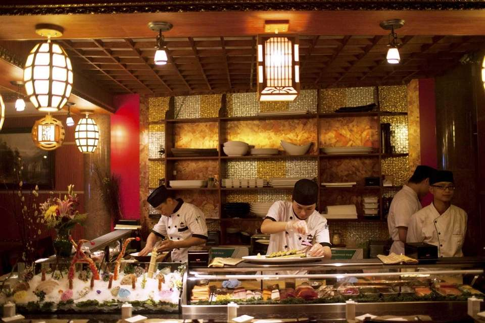 Ting features an ornately decorated sushi bar, where