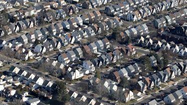 A neighborhood of houses over Nassau County is