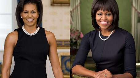 The official portraits of first lady Michelle Obama,