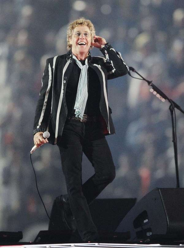 Roger Daltrey performs with The Who during the