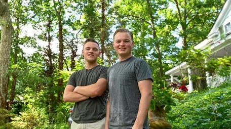 Matthew Pacholik, left, and his boyfriend, Mark Missirlian,
