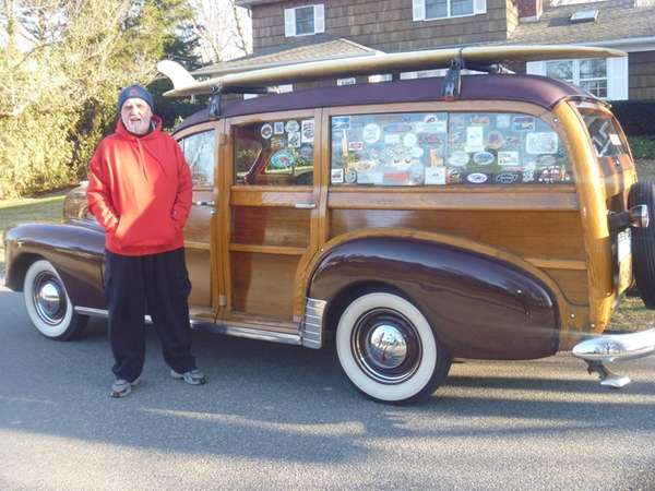 Chet Lukaszewski of Huntington with the 1948 Chevy