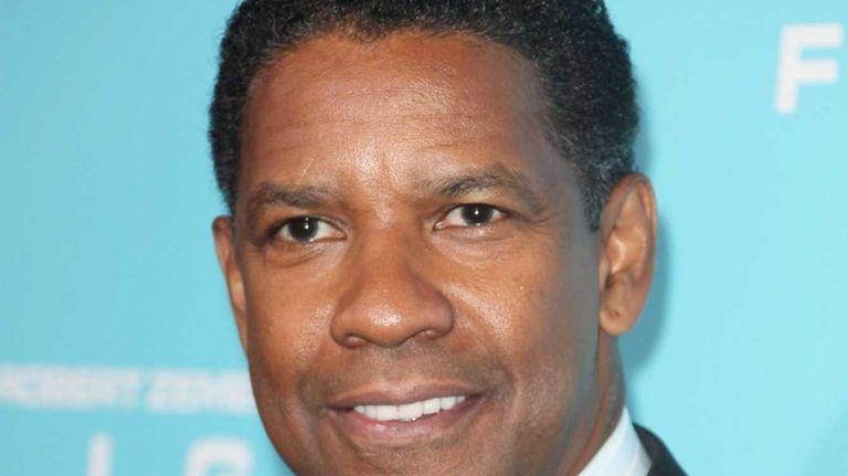 Denzel Washington attends the premiere of