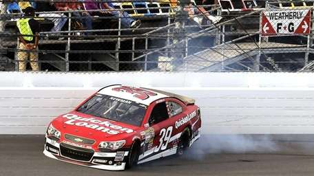 Ryan Newman hits the wall during the second