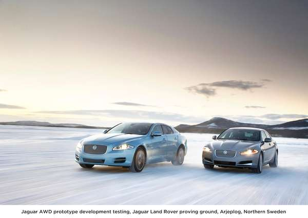 The 2013 Jaguar XF and XJ models feature