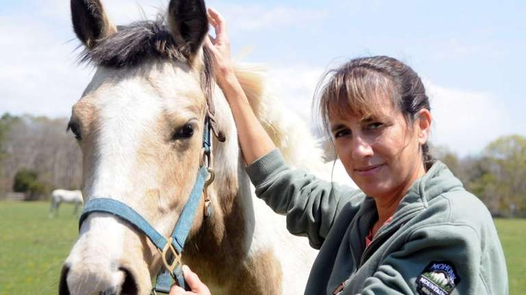 Mona Kanciper, 49, head of a leading horse