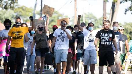 Protesters march through Valley Stream for racial equality