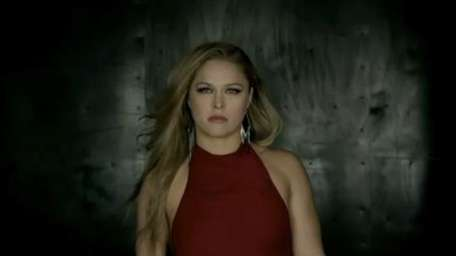 A screengrab from the Ronda Rousey-Liz Carmouche promo
