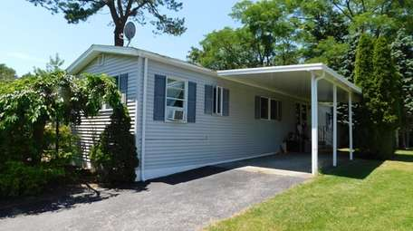This Riverhead mobile home, which has two bedrooms