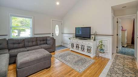 The cottage has an open floor concept wih