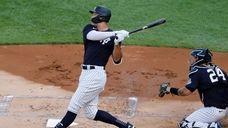 Yankees rightfielder Aaron Judge wasscratched last-minute from Saturday