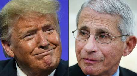 President Donald Trump and Dr. Anthony Fauci, his