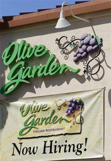 An Olive Garden restaurant in Palo Alto, Calif.