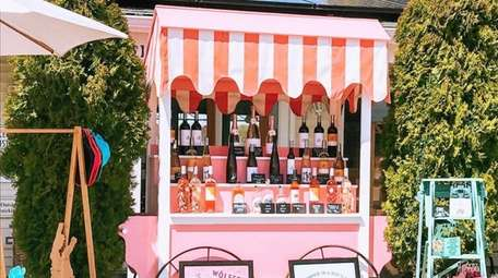 The roadside drive-thru wine stand located at Wolffer
