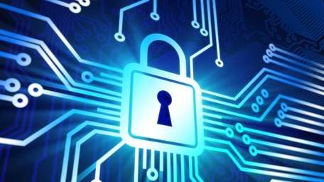 Cyber security concep with lock. credit: iStock