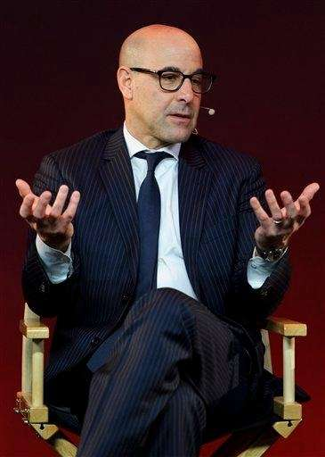 "Stanley Tucci at a ""Meet the Filmmakers"" session,"