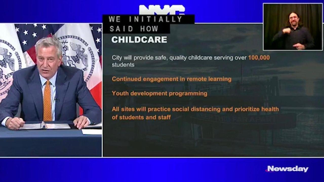 Mayor Bill de Blasio announced on Thursday that