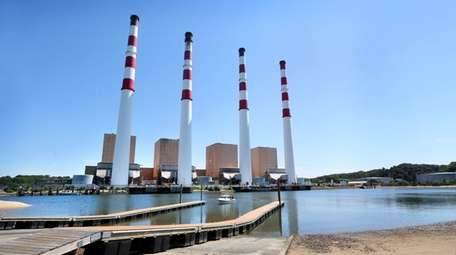 The Northport power station is seen on Aug.