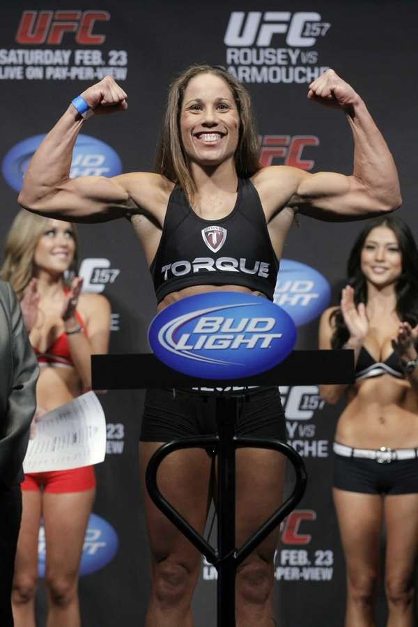 Mixed martial arts fighter Liz Carmouche poses at