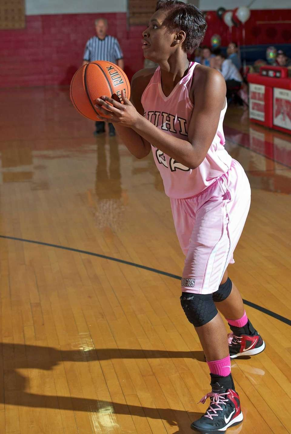 Long Island Lutheran forward Staci Barrett looks for