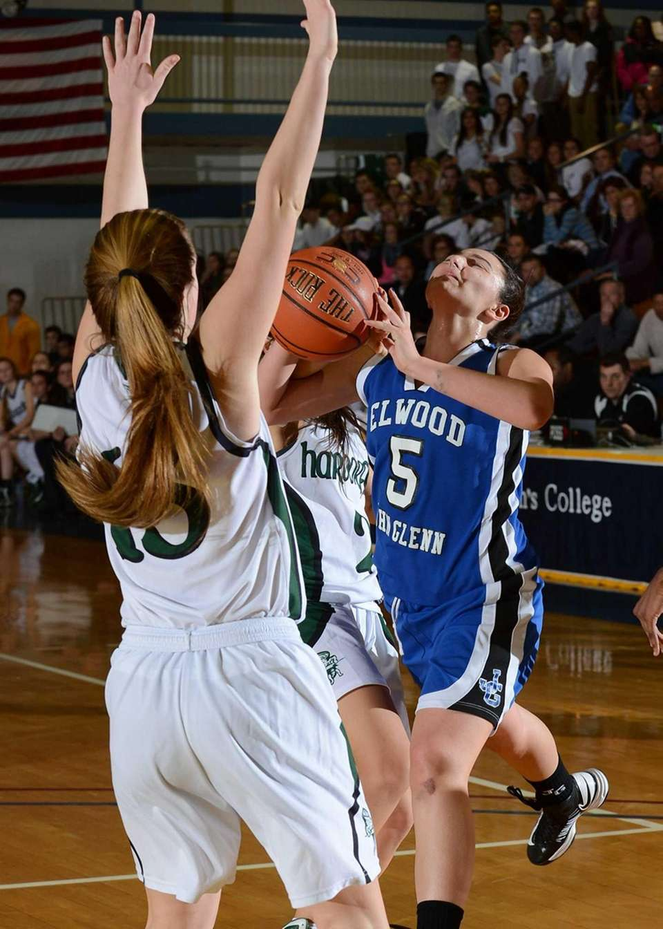 Glenn's Mackenzie Sivilli goes for the shot and