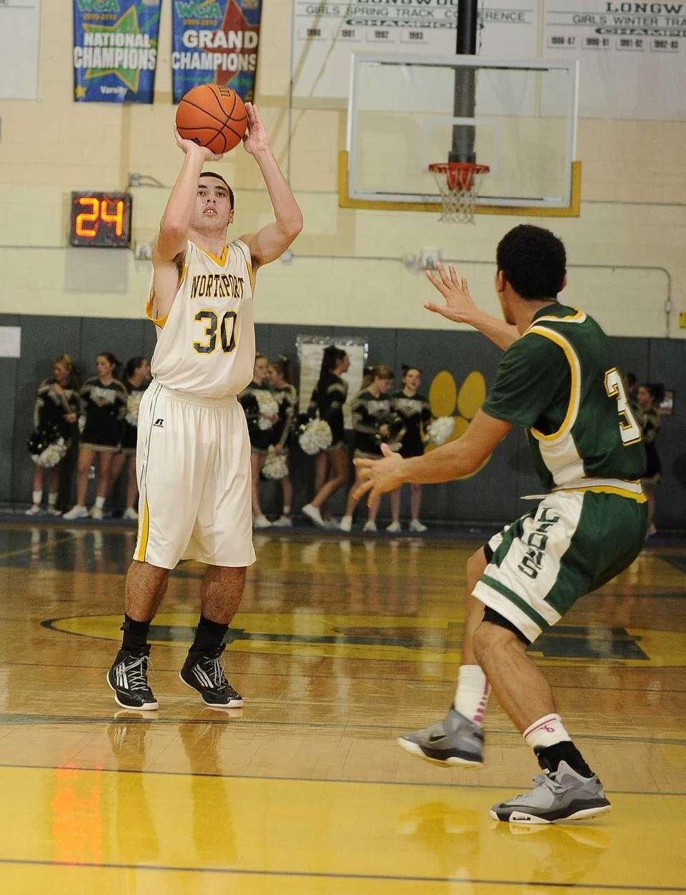 Northport's Matt Smith shoots ahead of Longwood's Walter