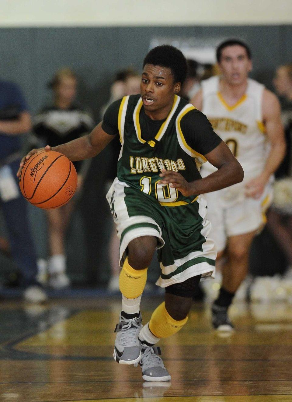 Longwood's Latrell Washington breaks away against Northport in