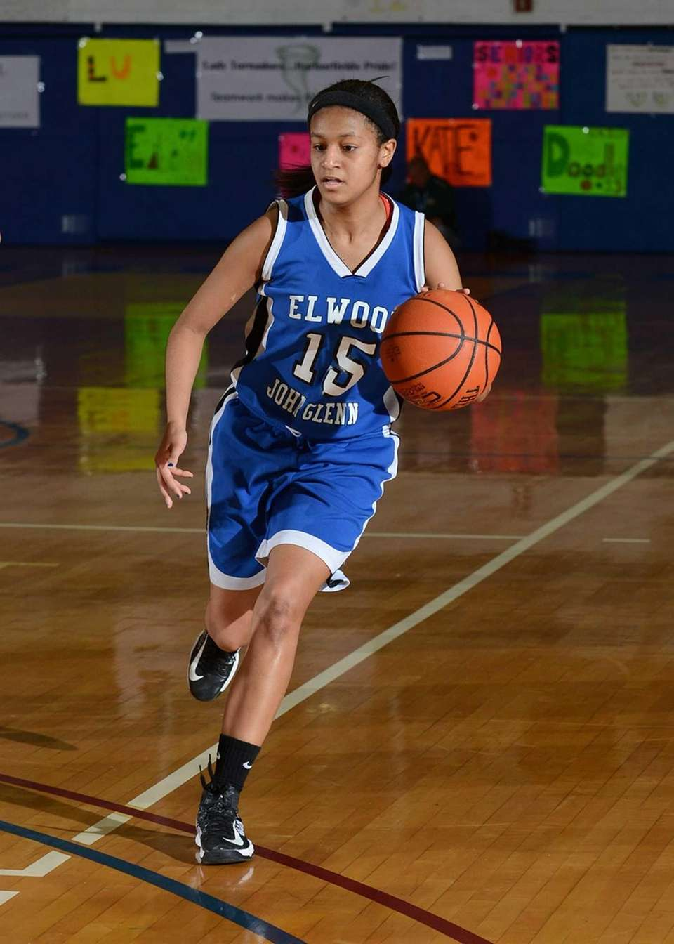 Glenn's Tanna Mohammed brings the ball up against