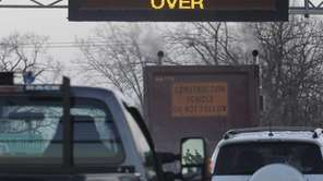 A sign on the New York State Thruway