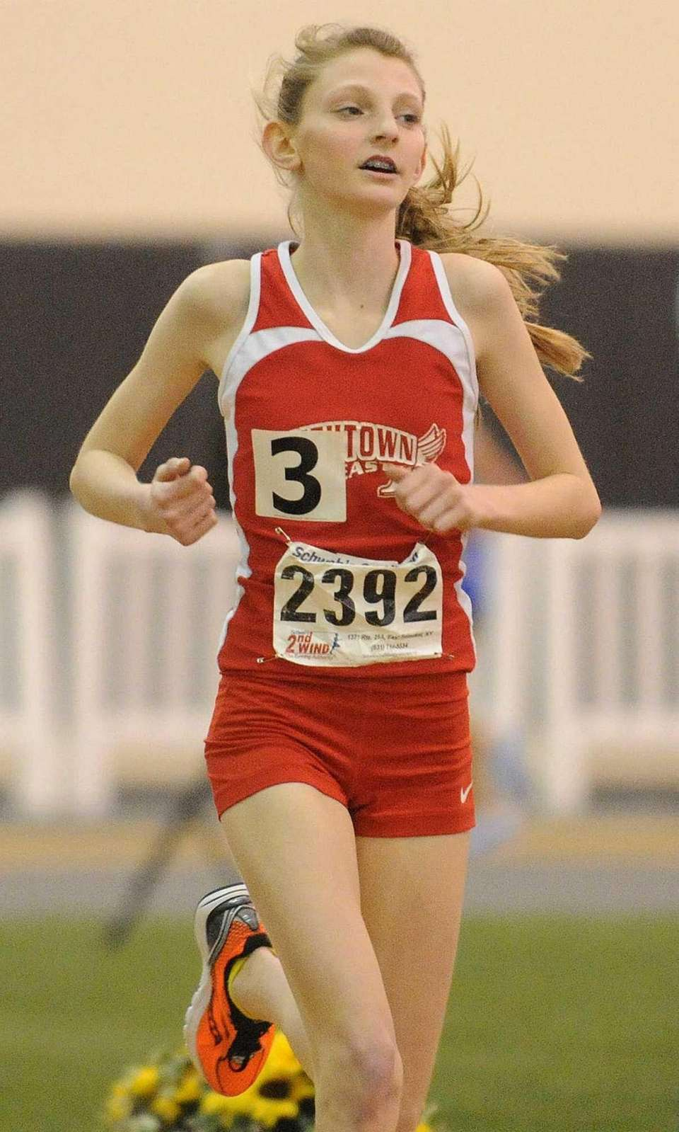 Smithtown East eighth grader Jaclyn Gallery races to