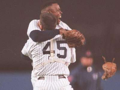 Doc Gooden celebrates his no-hitter Tuesday May 14,
