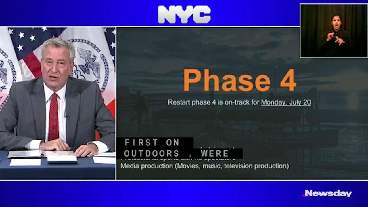 NYC is on trackto start Phase 4 of